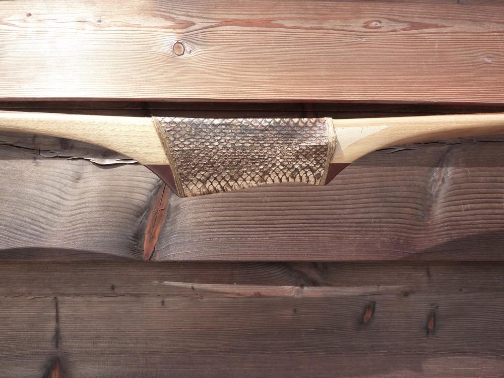 Black Locust rawhide backed snake handle - 12 von 17