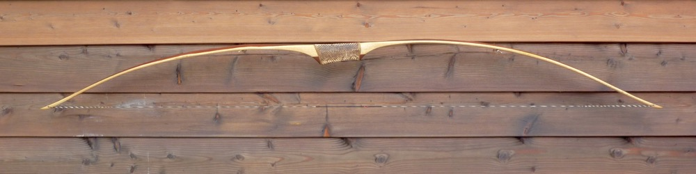 Black Locust rawhide backed snake handle - 2 von 17